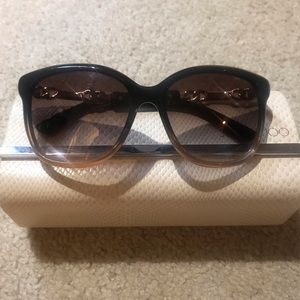Jimmy Choo two-toned black & gold sunglasses, Used